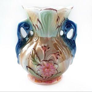 Vintage Lusterware Brazil Hand Painted Vase